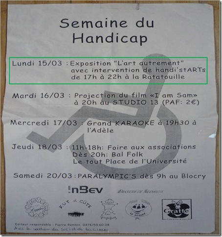 affiche semaine du handicap LLN