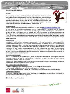 Newsletter avril-mai 2010