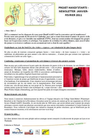 Newsletter 01-02-2011